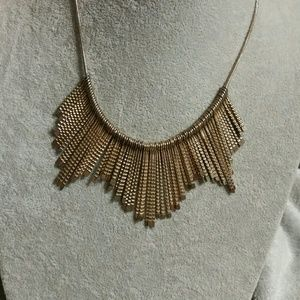 Free People Gold Mixed Metal Statement Necklace